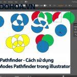 Pathfinder – Sử dụng Shape Modes Pathfinder trong illustrator