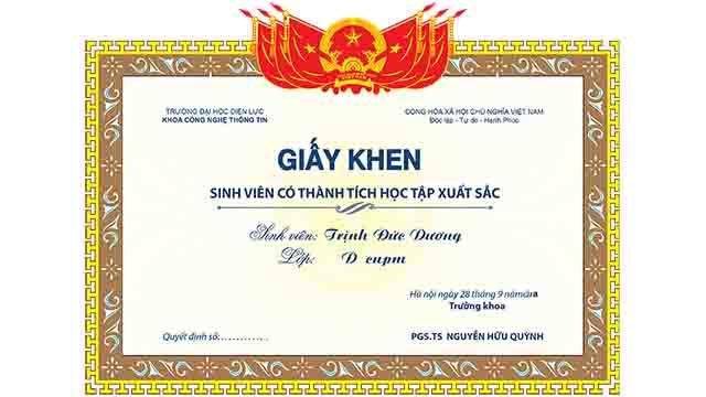 Mẫu giấy khen vector, Download 1000 mẫu bằng khen, giấy khen