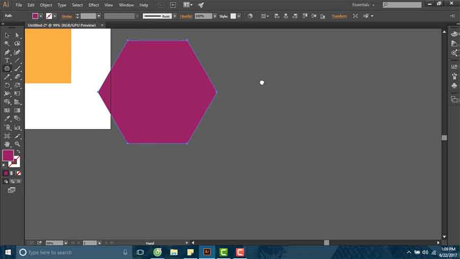 Sử dụng hình cơ bản trong illustrator