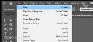 Mở bảng điều khiển tạo file làm việc trong illustrator