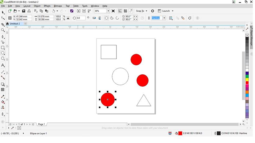 Cách sửa lỗi tự động tô màu đối tượng khi làm việc trên Corel Draw.