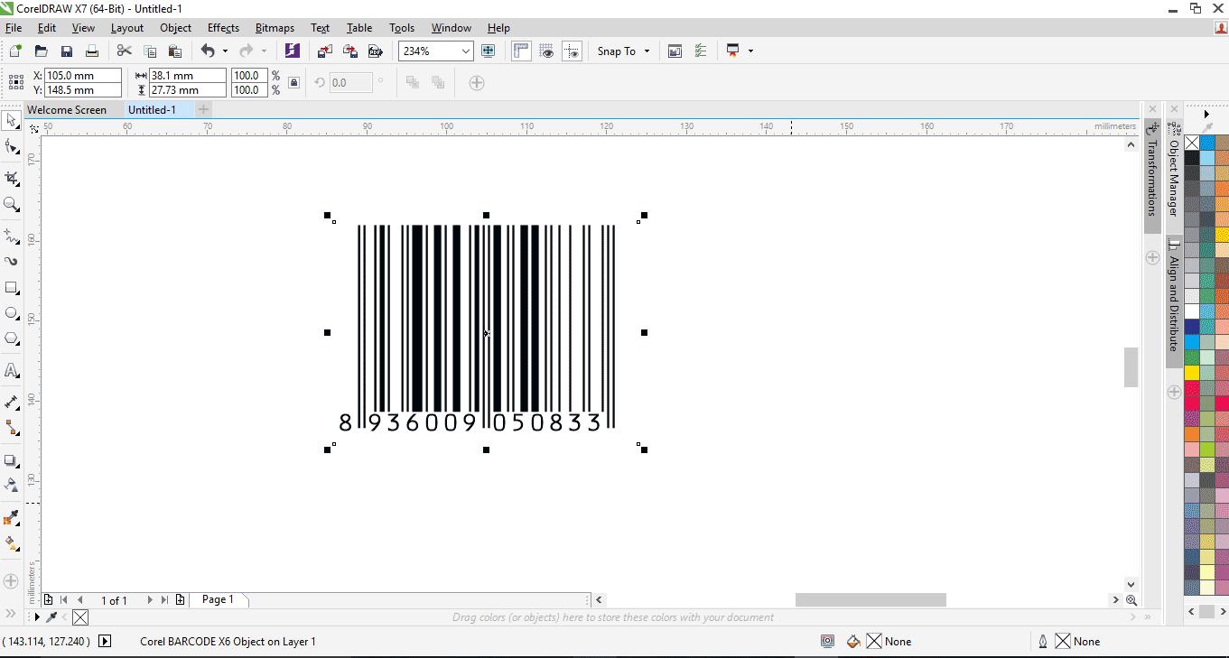 Hướng dẫn cách tạo và hiệu chỉnh mã vạch(barcode) bằng Corel