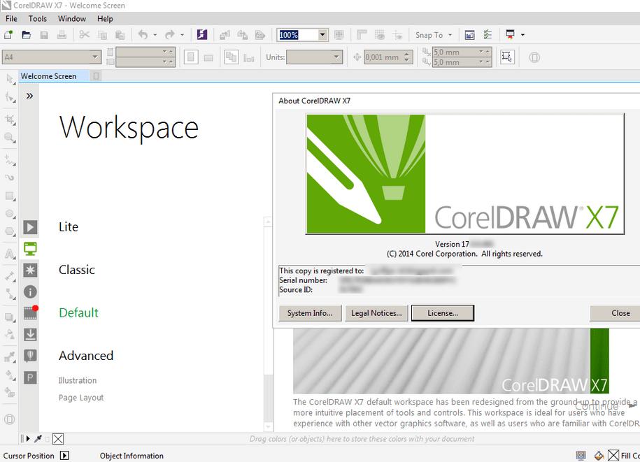 Tạo file làm việc trong Corel