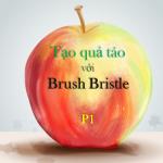 Brush Bristle – Tạo trái táo với công cụ Brush Bristle của Illustrator P1