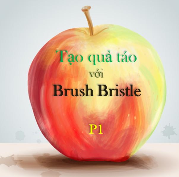 Brush Bristle - Tạo trái táo với công cụ Brush Bristle của Illustrator P1