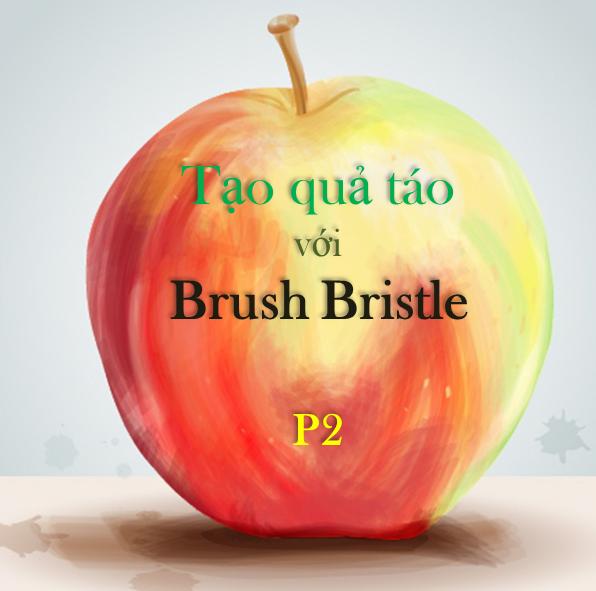 Brush Bristle - Tạo trái táo với công cụ Brush Bristle của Illustrator P2
