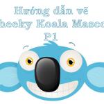 Cheeky Koala Mascot Head vẽ với Adobe Illustrator –  P1