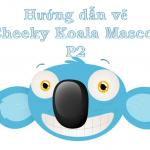 Cheeky Koala Mascot Head vẽ với Adobe Illustrator –  P2