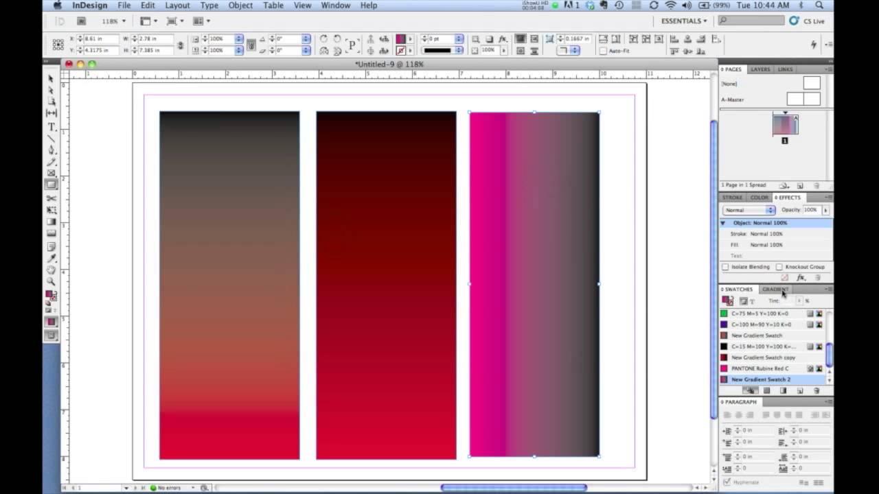 Blend màu trong InDesign - Hướng dẫn Blend màu trong ID