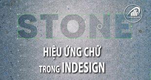 hiệu ứng chữ trong Adobe InDesign