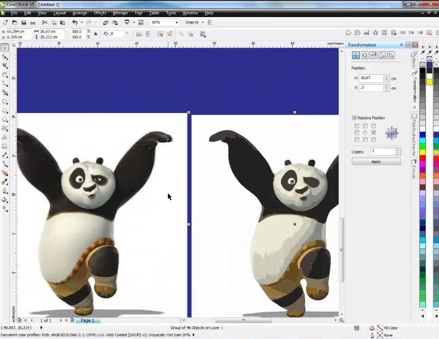 Hướng dẫn cách thêm hình ảnh, hình nền vào các bảng trong Corel Draw.