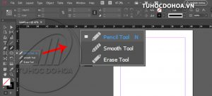pencil tool trong indesign