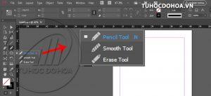 pencil tool trong indesign