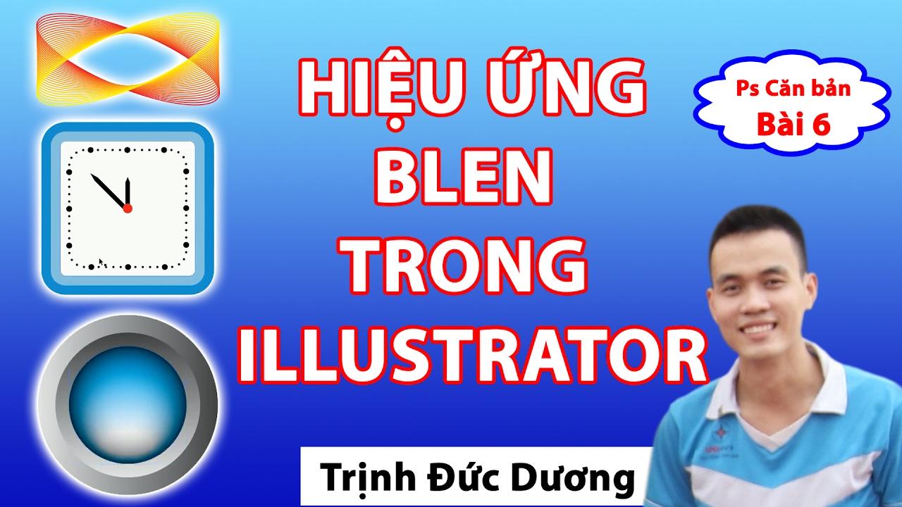 Blend trong llustrator - Hướng dẫn sử dụng Blend Tool illustrator
