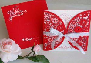 thiệp cưới thiết kế bằng CorelDraw