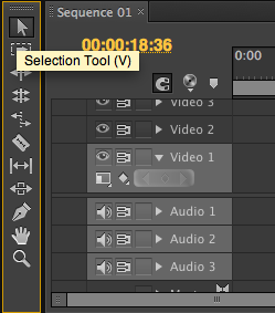 Selection Tool trong Adobe Premiere