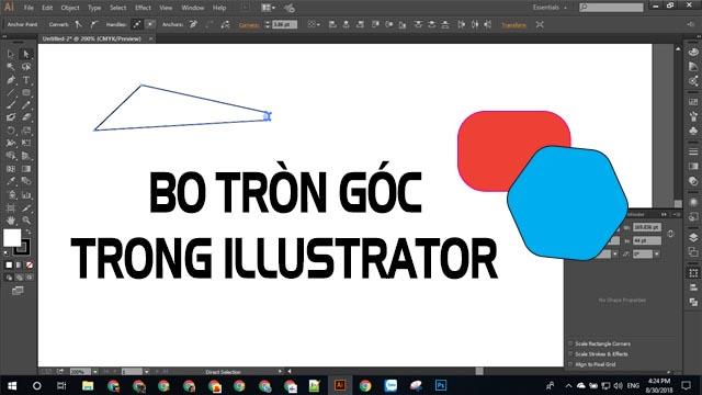 Bo bo tròn góc trong Illustrator