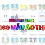 Download 1000 Mẫu áo thun đẹp thiết kế bằng CorelDraw