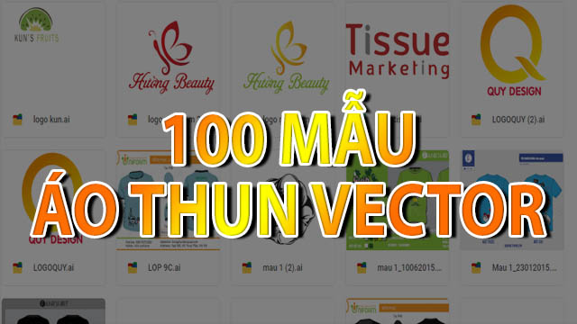 Mẫu áo thun vector - Download 100 mẫu áo thun vector đẹp [AI]