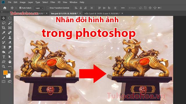 Nhân đôi hình ảnh trong photoshop - Cách nhân bản đối tượng đơn giản
