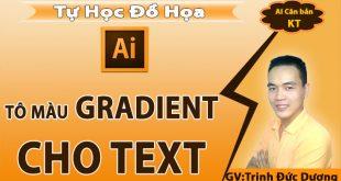 Tô màu Gradient cho text