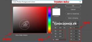 color picker trong photoshop