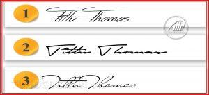 Độ dày của chữ ký