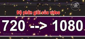 Độ phân giải và khung hình video trong xuất video