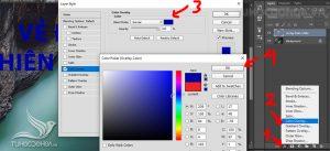 Đổi màu chữ bằng hiệu ứng layer style