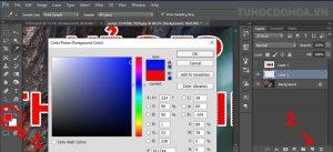 Đổi màu chữ trong photoshop bằng phương pháp đổ màu