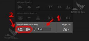 Căn chỉnh khoảng cách giữa các đối tượng bằng Align trong illustrator