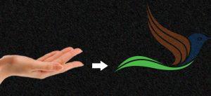 Tự học Đồ hoạ với logo nâng đỡ