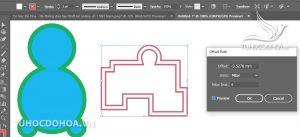 Các trường hợp sử dụng Offset path trong illustrator