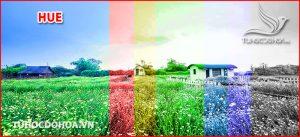 Chế độ hoà trộn Hue Trong photoshop