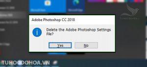 xác minh lại reset phần mềm photoshop