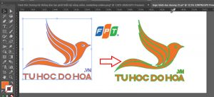 Hút màu stroke trong illustrator