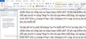 Lỗi font chữ trong microsof word