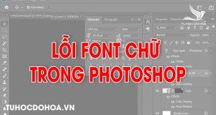 Lỗi font trong photoshop