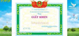 Mẫu giấy khen uỷ ban nhân dân Huyện
