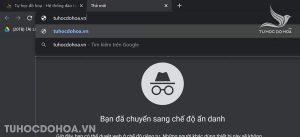 Sử dụng chế độ ẩn danh của google