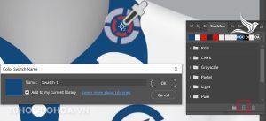 Tạo mẫu màu mới - Cách Hút màu trong Photoshop