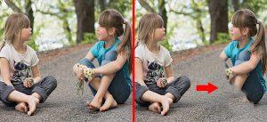 Trường hợp áp dụng cách xoá người trong ảnh bằng clone stamp