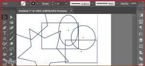 Bước 1 Chọn các đối tượng cần tô màu trong illustrator