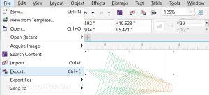 Bước 1 Chọn chế độ xuất file ảnh trong corel