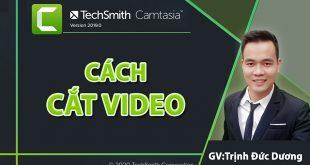 Cách cắt video bằng Camtasia