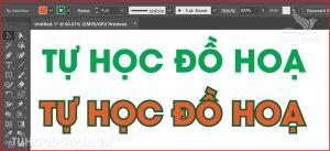 Cách tô màu stroke trong illustrator