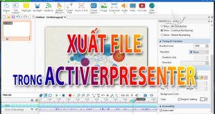 Cách xuất video trong Activerpresenter