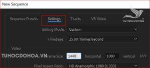 Cài đặt video với chất lượng tốt hơn trong premiere