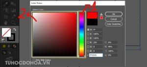 Chọn màu cần tô cho đối tượng trong illustrator