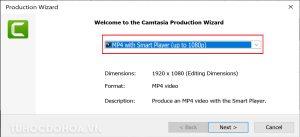 Lựa chọn chất lượng video trong camtasia